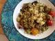 Салат табуле с овощами-гриль и сыром фета