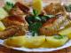 Крылышки в духовке с картошкой: рецепт приготовления
