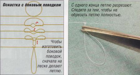 Как привязать к лески поводок