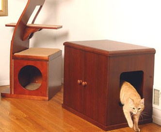 как самим сделать домик для кошки