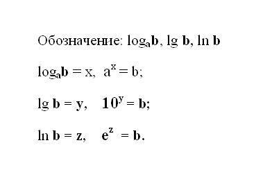 Как решать логарифмы