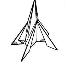 Как сделать космическую <b>ракету</b> из <strong>бумаги</strong>