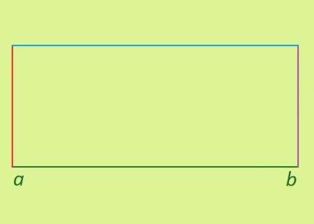 построение четвертой стороны <strong>прямоугольник</strong>а (обозначена синим цветом)