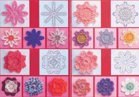 Как вязать разные <em>цветы</em> <b>крючком</b>