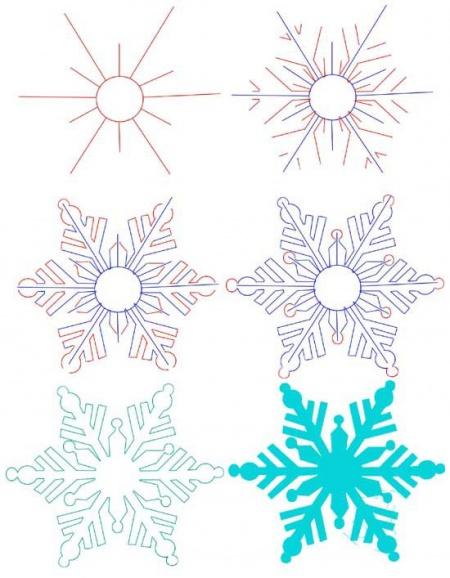 Как нарисовать <strong>снежинку</strong>