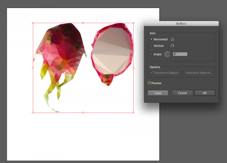 Как сделать отражение объекта в Illustrator